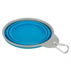 Cestovní silikonová miska s pevným okrajem 0,5 l/14 cm