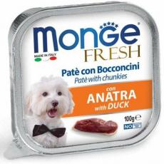 MONGE FRESH - paštika a kousky s kachnou 100 g pro psy