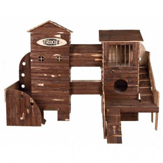 Natural Living ranč dřevěný pro hlodavce 156x108x99 cm - DOPRODEJ