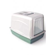 WC kočka Vicky kryté s filtrem, 54x39x39cm-zelená