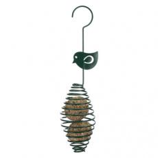 Krmítko na lojovou kouli - spirála s ptáčkem,  ø 7 × 35 cm