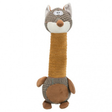 Fox, liška dlouhán, plyšová se zvukem, 38cm - DOPRODEJ
