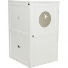 XL domek na kočičí toaletu, 2 poličky, MDF, 53 x 90 x 58 cm, bílá