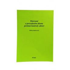 Tiskopis-Potvrzení o provedené vet. akci 99 listů