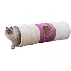 XXL tunel pro kočky, plyšový se šustící fólií, 3 otvory, ø 35 × 115 cm