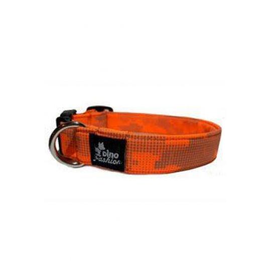 Obojek DINOFASHION Reflexní oranžovo-šedý 45/3cm