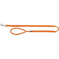 Vodítko PREMIUM s vyplněnou rukojetí 1m/20mm (M-L),  - papaya