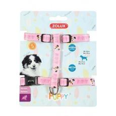 Postroj pes štěně MASCOTTE nastavitelný růžový 8mm Zol