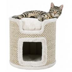 Škrabadlo kočičí věž RIA 37 cm světle šedé/přírodní