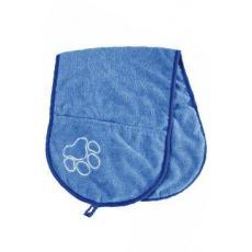 Vysoušecí šál s kapsami modrý 72x26cm TR