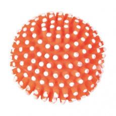 Ježatý míč bez zvuku, vinyl různobarevný, 7 cm
