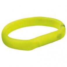 USB svítící obojek PLOCHÝ M-L 50cm/18 mm zelený (RP 2,10 Kč)