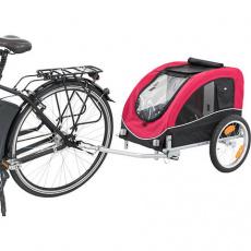 Vozík pro psa za jízdní kolo M 63 x 68 x 75/137 cm, nosnost max. 22 kg