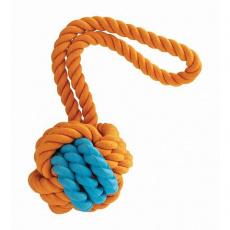 Kombinovaný Monty míč přírodní guma a bavlna s poutkem 29cm HipHop