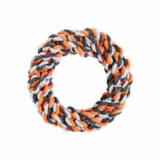 Kruh HipHop bavlněný 15 cm / 130 g šedá, tm.šedá, oranžová