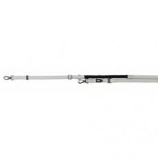 Vodítko EXPERIENCE prodl.s tlumičem tahu L-XL2,20-2,40m/25mm, stříbrné - DOPRODEJ