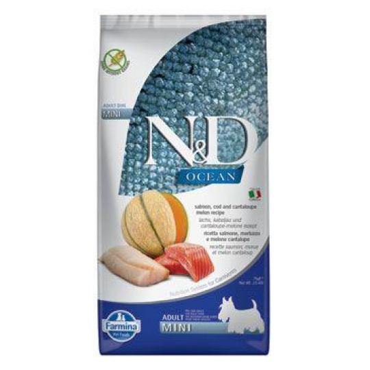 N&D OCEAN DOG Adult Mini Salmon & Cod & Melon 7kg