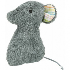 MOUSE, plyšová myš, hračka pro kočky s valerianem, 12 cm