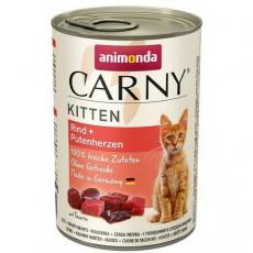 ANIMONDA konzerva CARNY Kitten - hovězí, krůtí srdce 400g