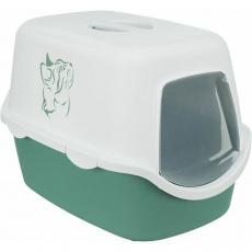 WC VICO kryté s dvířky s potiskem, bez filtru 56 x 40 x 40 cm, zelená/bílá