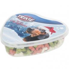 Vánoční sušenky - kostičky v srdcové krabičce, pamlsek pro psy, 300g
