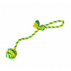 Vrhací lano s míčem HipHop bavlněný 41 cm 85 g limetková, zelená
