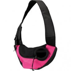 Přenosná taška-nosička na hrudník 50x25x18 cm růžovo/černá