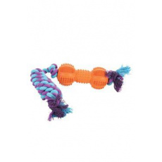 Hračka pes ROPE BONE gumový 35cm mix barev Zolux