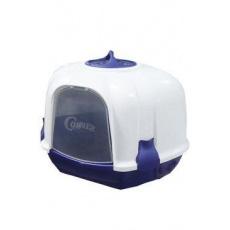 WC kočka Mega Corner 52x59,5x44,5 cm modro-bílá/béžová