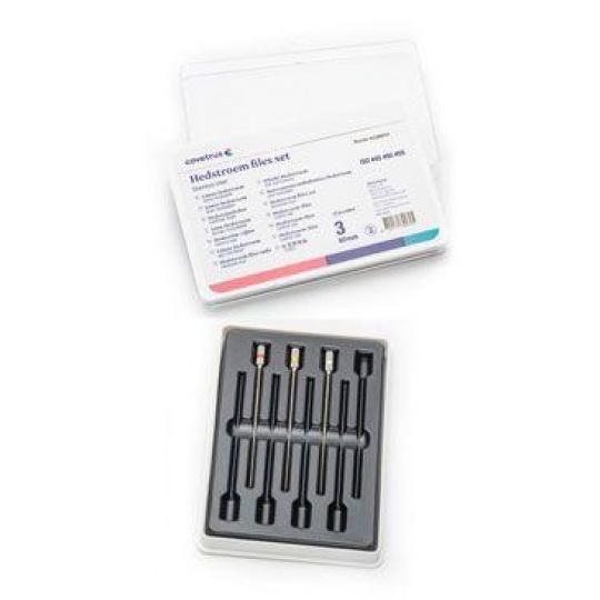 Hedstroem files set, nerez 60mm (ISO #45-50-55), 3ks