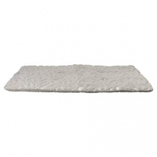 Podložka Feather 100 x 70 cm šedá/stříbrná
