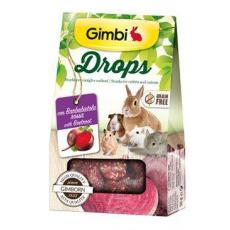 Gimbi Drops pro hlodavce s červenou řepou 50g