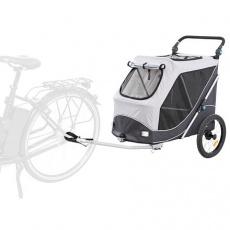 Vozík za kolo s funkcí rychlého skládání L 74 x 95 x 103/143 cm, nosnost max. 30 kg, šedý