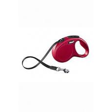 Vodítko FLEXI Classic NEW S pásek 5m/15kg červená