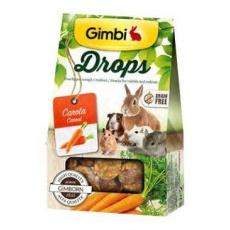 Gimbi Drops pro hlodavce s mrkví 50g
