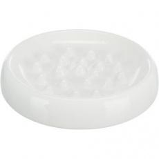 Slow Feed, keramická miska k pomalému krmení, 0.25 l/ø 18 cm, bílá