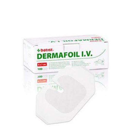 Náplast Dermafoil 6x7cm pro fixaci I.V.kanyl  100ks