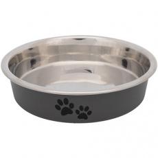 Nerezová miska s bareveným opláštěním pro krátkonosé kočky 0,25l/13 cm