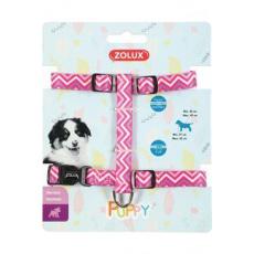 Postroj pes štěně PIXIE nastavitelný růžový 8mm Zolux