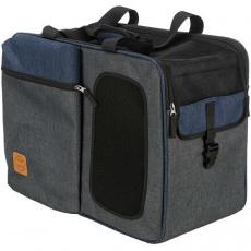 Batoh a nosítko TARA 2v1, 25 x 38 x 50 cm, šedá/modrá