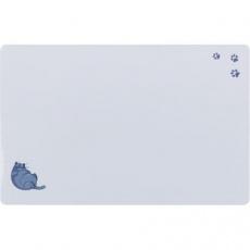 Prostírání pro kočky, Fat Cat s tlapkami, 44 x 28 cm, šedá