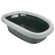 WC pro kočky CARLO 2 38x17x58cm, sv. šedá/tm. šedá