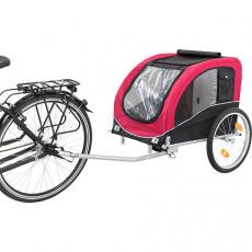 Vozík pro psa za jízdní kolo L 75 x 86 x 80/145 cm, nosnost max. 30 kg