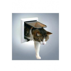 Dvířka kočka plast 4P s tunelem Bílá TR