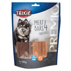 PREMIO 4 Meat Bars - pásky kuřecí, kachna, jehněčí, losos, 4x100g