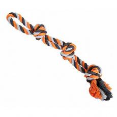 Dvojité lano HipHop bavlněné 3 knoty 60 cm / 450 g šedá, tm.šedá, oranžová