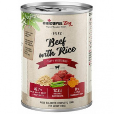 CHICOPEE ADULT čisté hovězí s rýží konzerva pro psy 400 g
