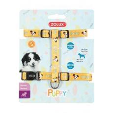 Postroj pes štěně MASCOTTE nastavitelný žlutý 13mm Zol