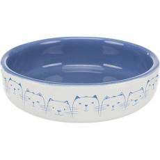 Keramická miska nízká, pro kočky s krátkým čumákem 0,3l/11 cm