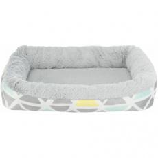 Hebký plyšový pelíšek pro hlodavce, 30 x 6 x 22 cm, barevná/šedá